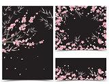 Sakura branch decoration