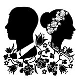 wedding silhouette with flourishes 4