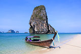Longtail Boat Railay Beach Krabi Thailand
