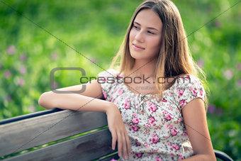 Nice female outdoors