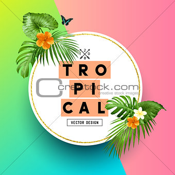 Bright Tropical Summer Background