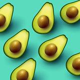 Healthy Fresh Avocado Background