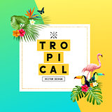Tropical Summer Background Design