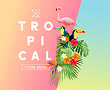 Tropical Summer Themed Illustration