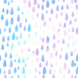 Unicorn Teardrops Pattern Background