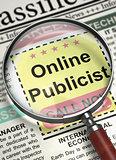 We're Hiring Online Publicist. 3D.