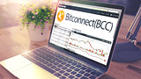 BITCONNECT on the Laptop Screen. Cryptocurrency Concept.