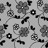 Lace flowers seamless pattern.