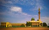 exterior view to Niamey Grand mosque in Niamey, Niger