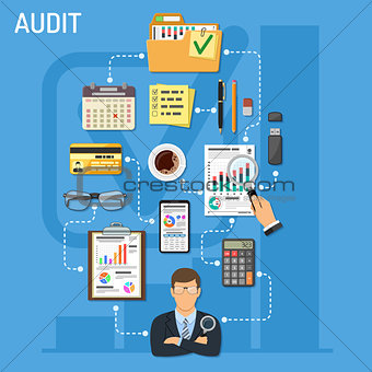 Auditing and Business Accounting Infographics