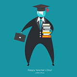 Happy teachers day concept background Vector Illustration