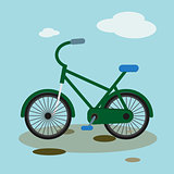 Bike mountain downhill vector flat bicycle illustration extreme urban biking