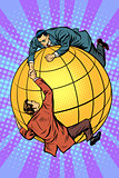 Politicians on the globe help each other