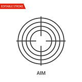Aim Icon. Thin Line Vector Illustration