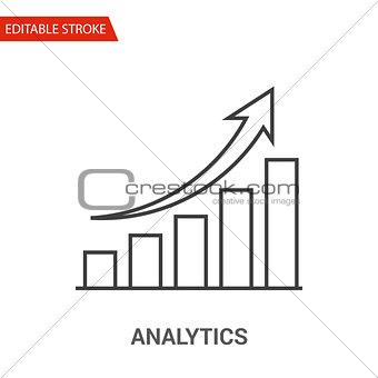 Analytics Icon. Thin Line Vector Illustration