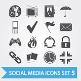 Social media icons set 5