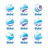 vector logo globe