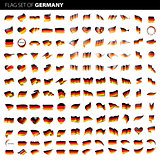 Germany flag, vector illustration