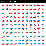 Russia flag, vector illustration