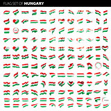 Hungary flag, vector illustration