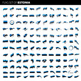 Estonia flag, vector illustration