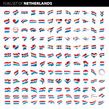 Netherlands flag, vector illustration