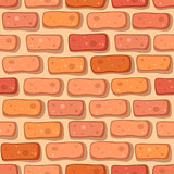 Cartoon red brick seamless pattern