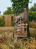 Small decorative hut in the garden
