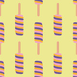 Ice cream colorful seamless pattern. Vector illustration.