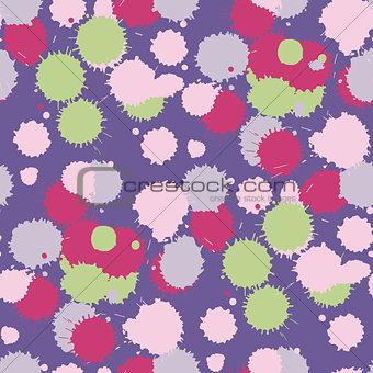 Blot ultra violet seamless pattern. Vector illustration