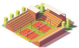 Vector low poly tennis stadium