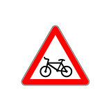 Bicycle sign. Vector