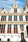 The front of the Old Chancellery at Burg square in Bruges