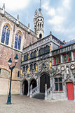 The Holy Blood Basilica at Burg square in Bruges