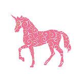 Unicorn pattern silhouette mythology symbol fantasy