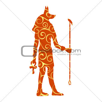 God Anubis egypt egyptian pattern silhouette ancient egypt