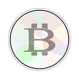 Bitcoin sign in soft circle
