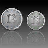 Clock face with bitcoin