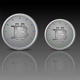 Clock face with bitcoin