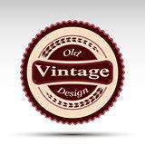 The vector emblem.Vintage design