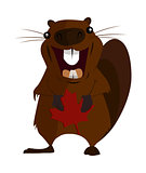 Concept on the day of Canada, Holiday Beaver