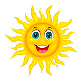 Smiley joyful sun