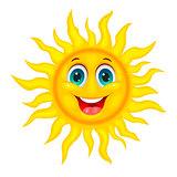 Smiley joyful sun