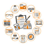 Auditing, Tax, Accounting Infographics