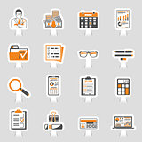 Auditing, Tax, Accounting Sticker Icons Set