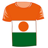 T-shirt flag Niger