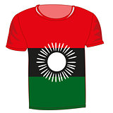 T-shirt flag Malavi
