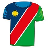 T-shirt flag Namibia