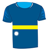 T-shirt flag Nauru