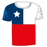 T-shirt flag Chile